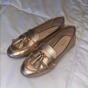 Aldo 'Yeliviel' Rose Gold Loafers